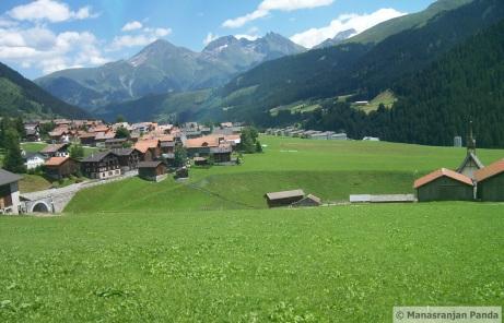 Lush green valley