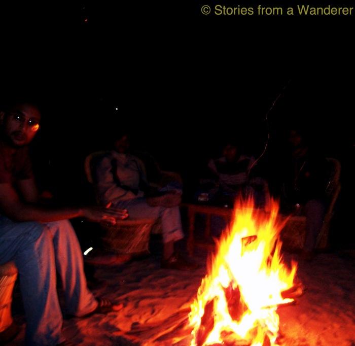 Bon fire with friends